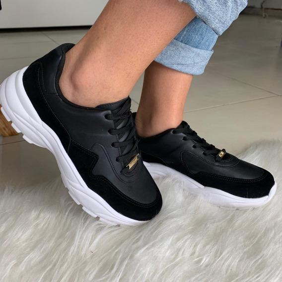Tênis Feminino Chunky Sneaker Vizzano Preto 1331102