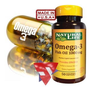 Omega 3 Dha 120mg Epa 180mg Aceite De Pescado Natural Life