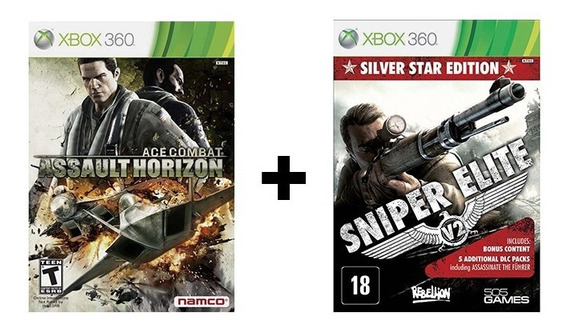 Ace Combat Assault Horizon + Sniper Elite V2- Xbox 360