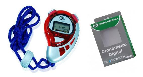 Cronometro Digital Gimbel Sj1042 + Cordon + Envio Gratis