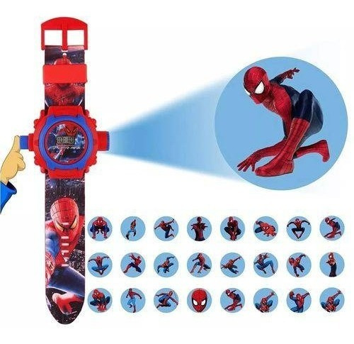 Relógio Digital Infantil C/ Projetor Homem Aranha Ben 10