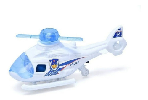 Imagen 1 de 2 de Helicoptero Policia A Friccion Juguete Juego Patrullero Niño