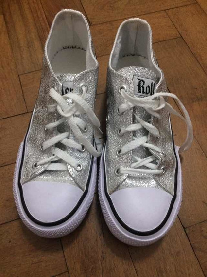 Zapatillas Tipo Converse Glitter