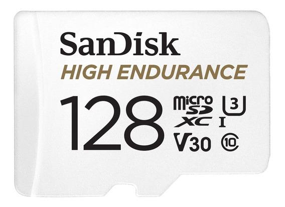 Cartão Micro Sd Sandisk® High Endurance C. Segurança - 128gb
