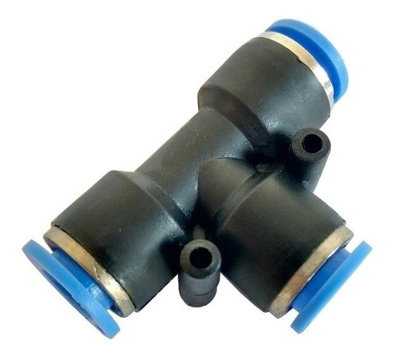 União T Emenda Tubo Pun Conexão Rápida - 10mm - 1 Pç