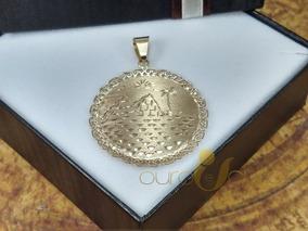 Pingente Egípcio De Ouro 18k Grande 5gr 3,5cm