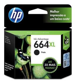 Cartucho De Tinta Hp 664xl Preto Ink Advantage F6v31ab