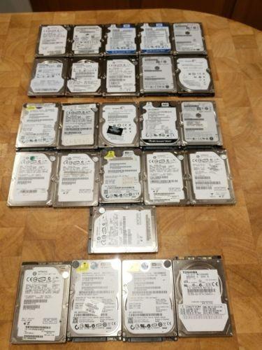Lote De 30 Discos Duros De Laptop Para Reparar