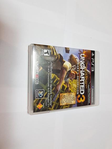 Jogo Ps3 Uncharted 3 Midia Original Com Cx