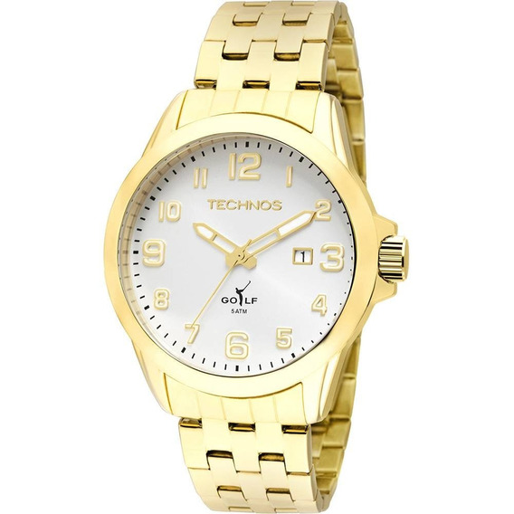 Relógio Technos Masculino Analógico Dourado 2115kny/4k.