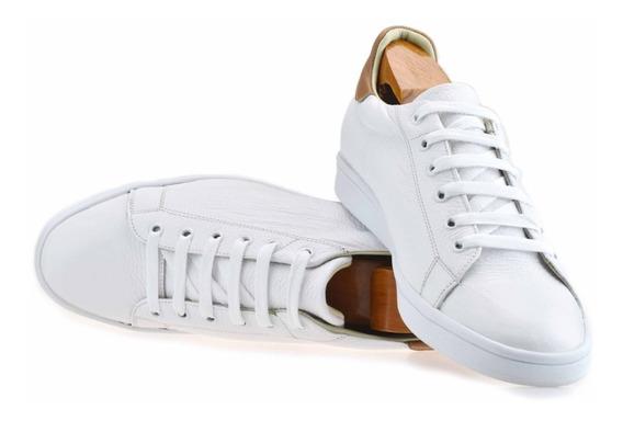 Tenis Blancos 100% Piel Andre Bocassi P/ Caballero Confort.