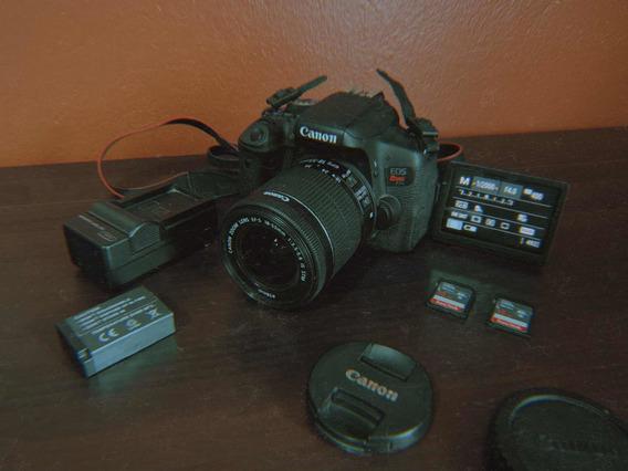 Câmera Canon T6i + Lente + Baterias E Cartões