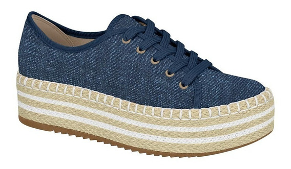 Tênis Flatform Beira Rio 4232.100 Jeans