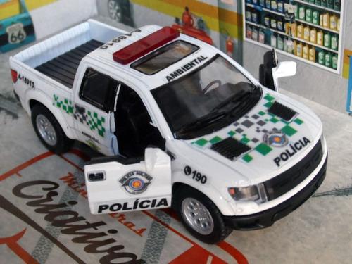 Miniatura Picape Ambiental Polícia Militar Pm Sp Ambiental