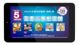 Tablet Avh Excer G5.6 Hd Bluetooth Android 7.0 Dual Cam