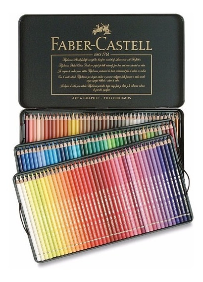 Lápis Cor Profissional Polychromos Permant 120 Faber Castell