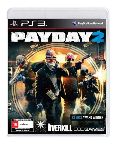 Payday 2 Ps3 Jogo Original Lacrado Mídia Física