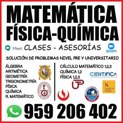 Clases Matemática Física Y Química Nivel Pre Y Universitario