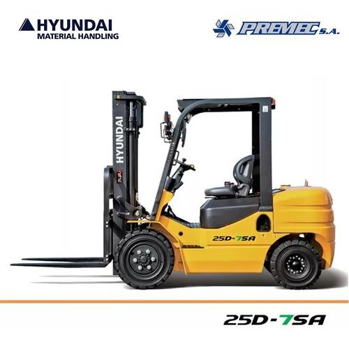 Autoelevador Hyundai Premec 2500 Kg Diésel Nuevo 0 Km