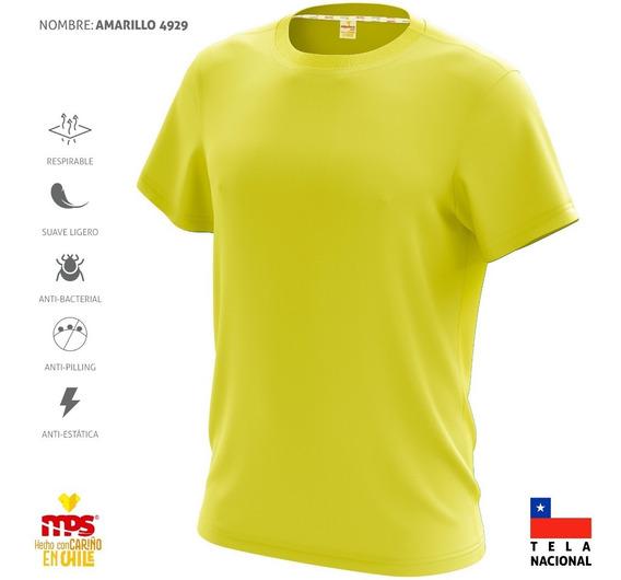 Polera Deportiva Dry Fit Antitranspirante Amarillo Limón