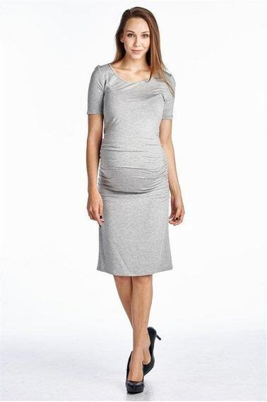 Xl - Grey - Ropa De Embarazada Mujeres Maternidad Manga-8036