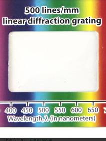 Kit X3 Rede De Difracão Holográfica