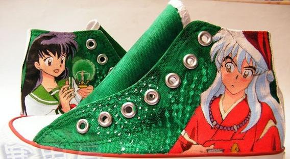 Zapatos Inuyasha Christmas Marca Collec Diseño Hecho A Mano