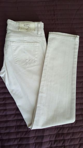 Tucci Pantalon Blanco-slim-impecable!