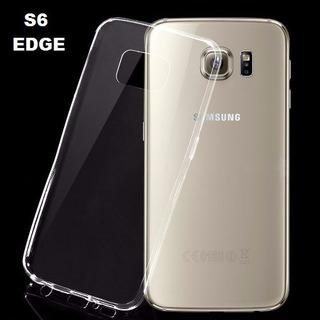Kit Capa Case Ultra Fina Slim + Película Gel Galaxy S6 Edge