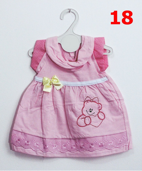4 Vestidos Bebê 3-6 M Roupa Infantil Menina Promoção !