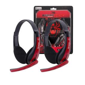 Kit 2 Fones Headset Gamer Spider Venom P2 Adaptador Xbox 360