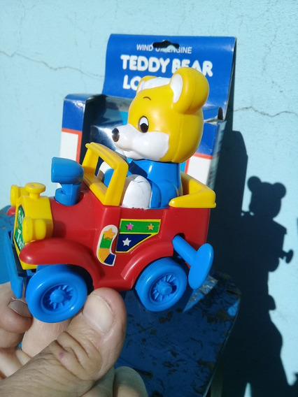 Auto Loco A Cuerda Teddy Bear Toot Toot