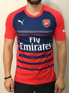 Camisa Treino Arsenal Vermelha Puma Lisa Pronta Entrega