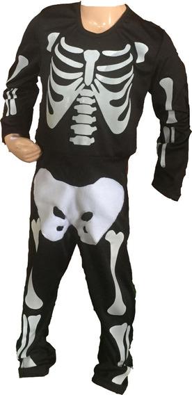 Esqueleto Blanco Disfraz Braga Halloween Halowen