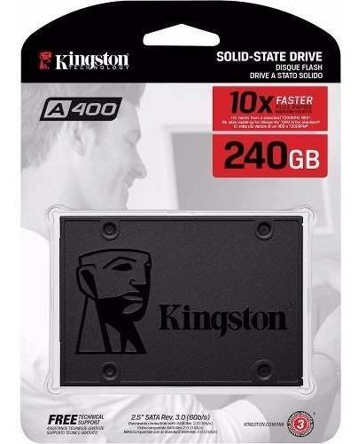 Imagen 1 de 5 de Disco Solido Ssd Kingston A400 240gb Sata3 500mb/s