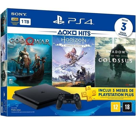 Playstation 4 Slim - 1 Terabyte + 3 Jogos - Novo, Imperdível
