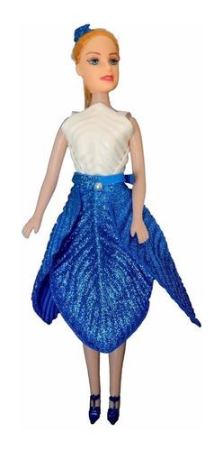 Imagem 1 de 1 de Bell - Azul Com Glitter - Bonecas Artesan
