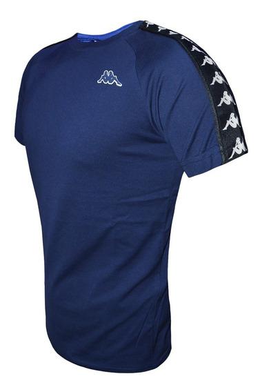 Remera Kappa Banda Coen Slim Moda Original Azul
