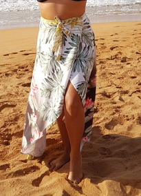 Saia Pareô Bia, Saída De Praia, Canga Luxo, Moda Praia 2019