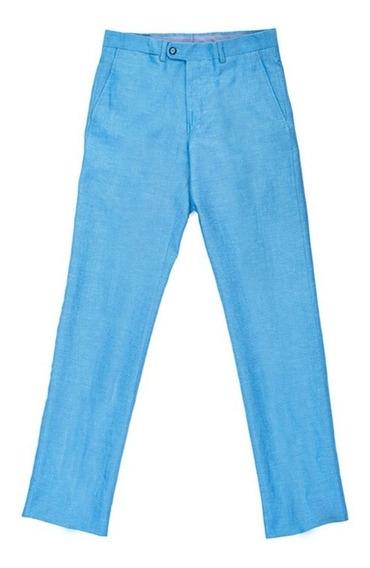 Pantalon Slim Fit Para Caballero Bruno Corza Color Aqua