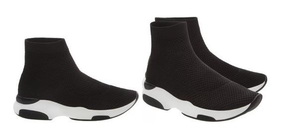 Tenis Sock Sneaker Knit Black Schutz