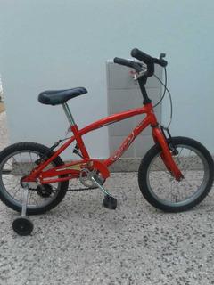 Bicicleta De Cars Roja Rodado 14