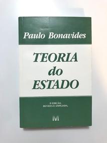 Teoria Do Estado - Paulo Bonavides - 2004 (5ª Ed.) Livro