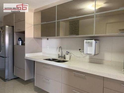 Apartamento Com 3 Dormitórios À Venda, 130 M² Por R$ 1.360.000,00 - Vila Anastácio - São Paulo/sp - Ap3208