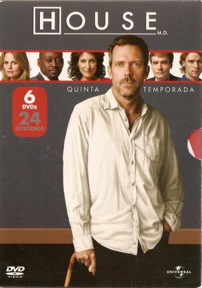 Box 6 Dvds Dr. House - Quinta Temporada - Novo Lacrado***
