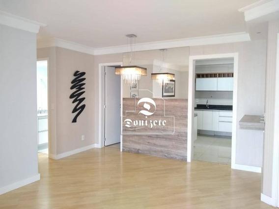 Apartamento Club House, 89 M² Por R$ 2.500/mês - Jardim - Santo André/sp - Ap4808