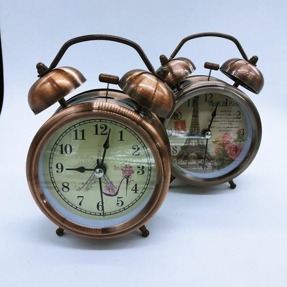 Reloj Despertador Clasico Antiguo De Campana Modelo Xd6045