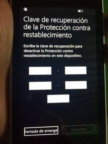 Microsoft Clave Contra Restablecimiento Lumia Nokia Xioami