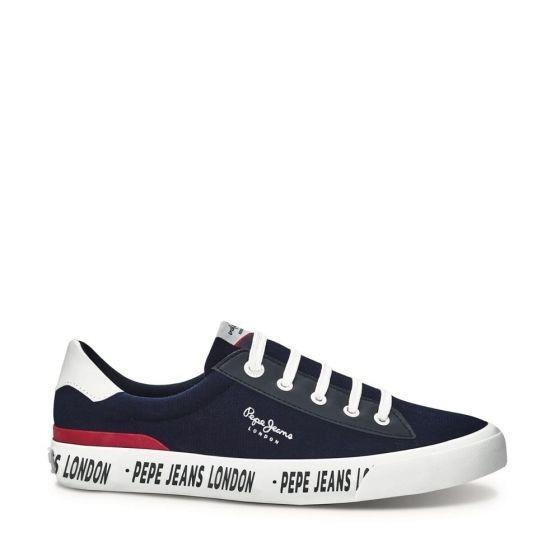 Tenis Casual Azul Con Agujeta Pepe Jeans Onno Imp 828210