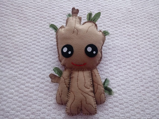 Baby Groot Pop De Feltro Guardiões Da Galaxia